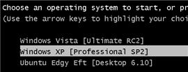 Triple-boot XP, Vista, and Ubuntu