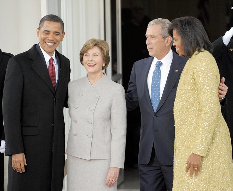 Bushes, Obamas Share Caffeine