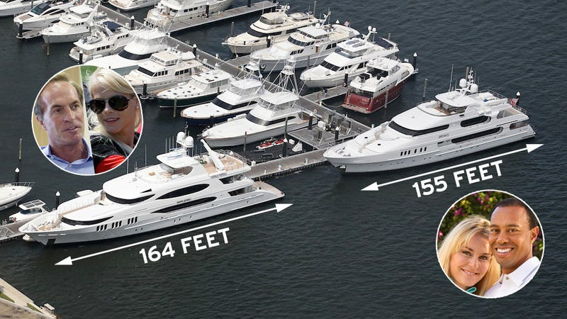 How Awkward! Tiger Woods' Yacht is Parked Right Next to Elin Nordegren's New Boyfriend's