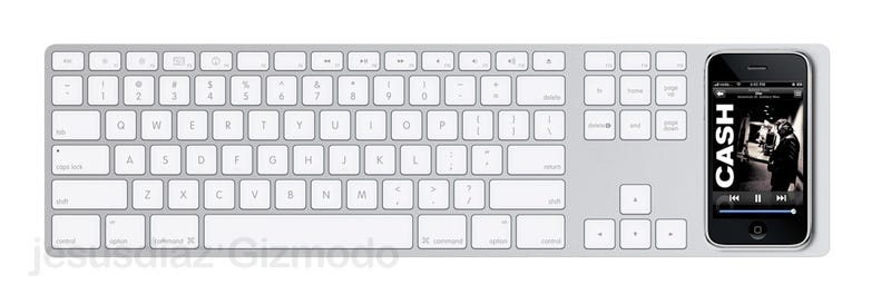 Apple Desktop Keyboard with iPhone Dock Concept Makes Perfect Sense