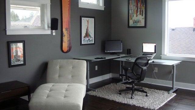 The Quiet Corner Workspace