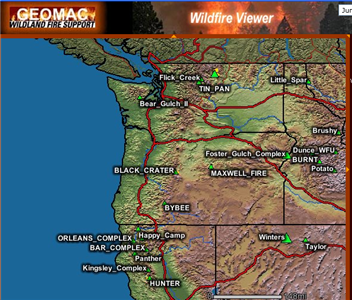 Real-time forest fire info