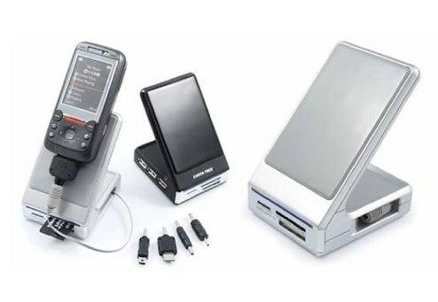 Earth Trek Phone Stand is USB Hub, Card Reader Too