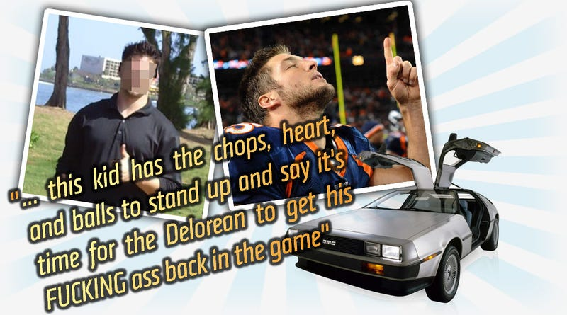 Meet The Dudebro Who Wants A DeLorean Because He Knows Tim Tebow