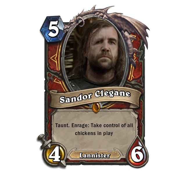 Game of Thrones Characters Would Break Hearthstone