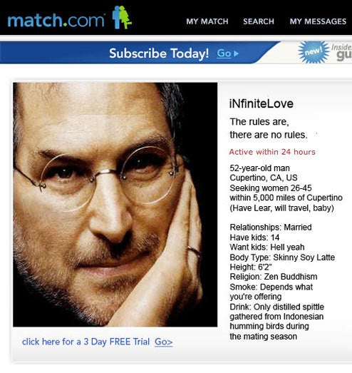 If Bill Gates and Steve Jobs were on Match.com: Who is Sexiest?