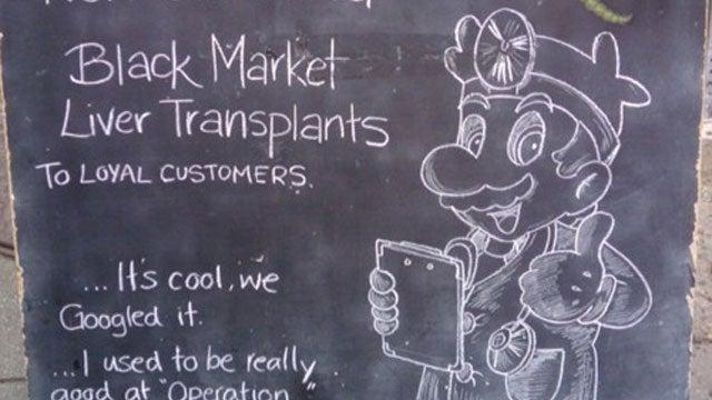 Dr. Mario is now Performing Black Market Liver Transplants