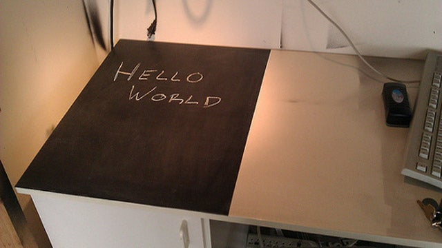 Add a Chalkboard Surface to Your Desk for Easy Note Taking