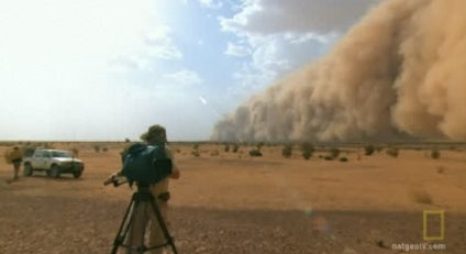 Taking On an African Dust Mega Storm With a Video Camera and a Headlamp
