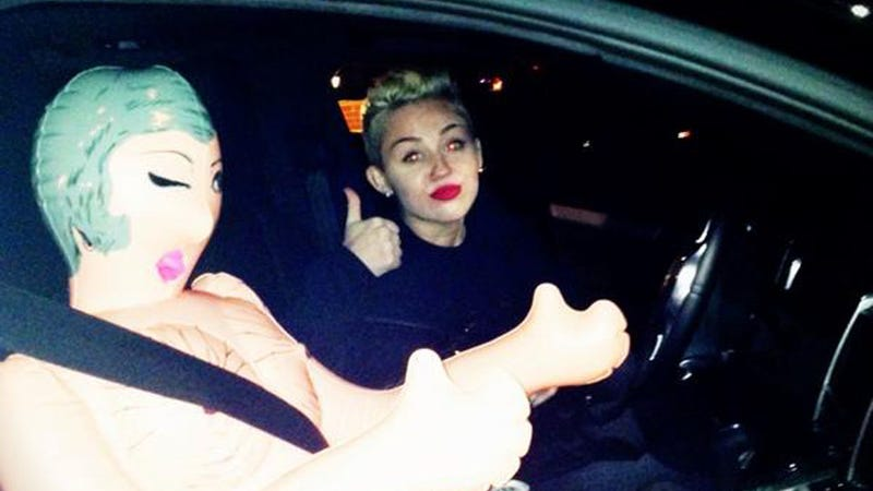 Miley Cyrus Got a Blow Up Doll for Christmas, Can Now Drive in Carpool Lane