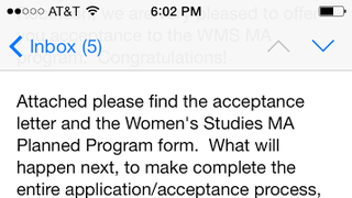 Guess Whose Going to Obtain A MA in Women's Studies?