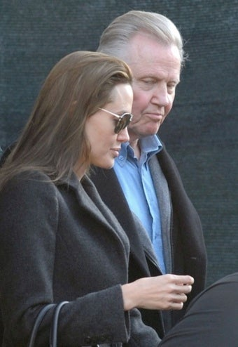 Angelina Jolie Reunites with Her Father, Who Marvels at Her New Face