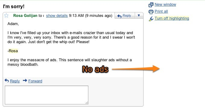 Massacre Gmail Ads with These Two Sentences (and Some Tragic Words)