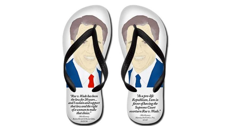 Mitt-Flops: The Only Abortion-Themed Campaign Footwear You Need