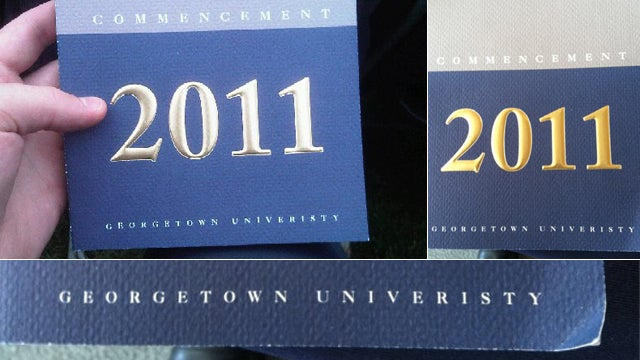 Georgetown 'Univeristy' Has Some Trouble With Spelling