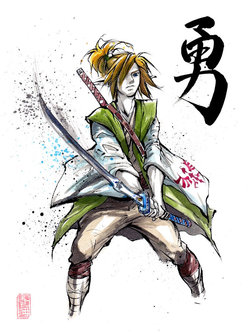 The Heroes and Villians of The Legend of Zelda, In Samurai Form
