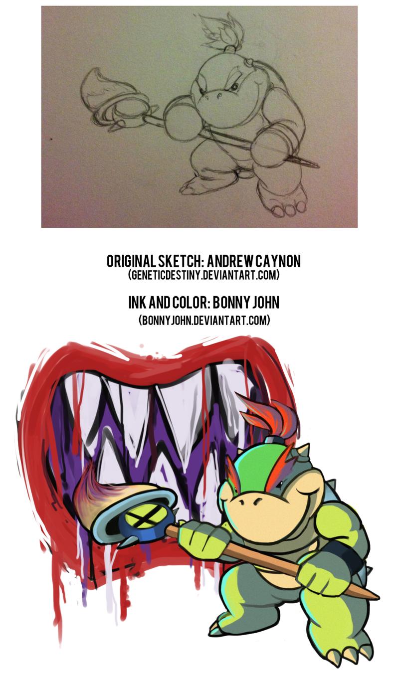 Smash Bros. 4 Character Prediction Art 3! Bowser Jr.!