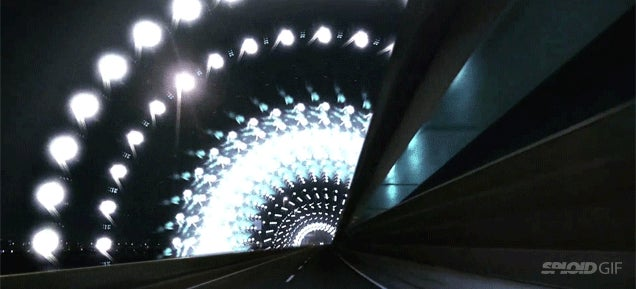 City street lights video feels like traveling through hyperspace