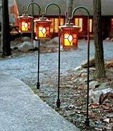 Solar-Powered Flickering Candle Lanterns