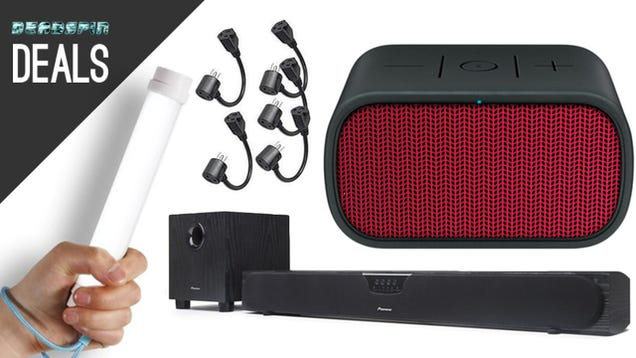 Deals: Highly-Rated Bluetooth Speaker, Baton Lamps, Power Strip Savers