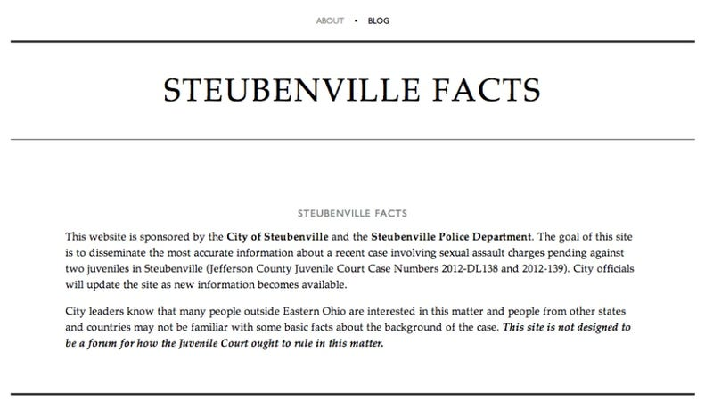 Steubenville City and Police Launch Rape 'Facts' Website In Hopes of Overshadowing Anonymous's Influence