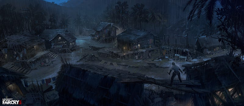 Far Cry 3's Jason Brody, Standing Sadly In The Rain
