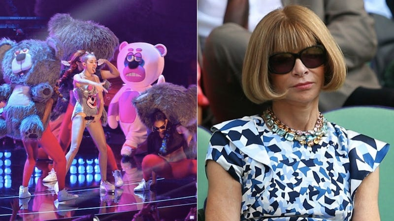 Anna Wintour Cancels a Miley Cyrus Vogue Cover Due to Twerking, Bears