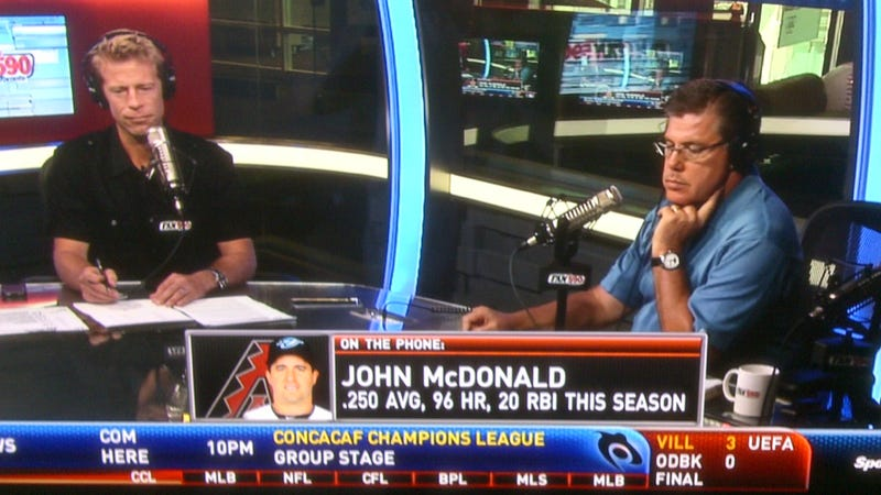 Canadian Television Says Blue Jays (Now Diamondbacks) Utility Infielder John McDonald Hit 96 HR This Year
