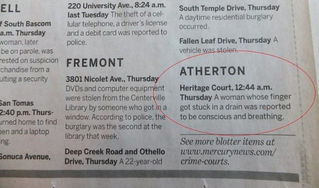 The Police Blotter for America's Third Most Expensive Zip Code is a Thing of First World Beauty