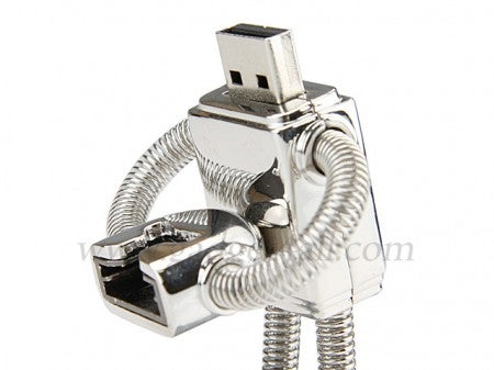 Suicidal Robot Keychain Doubles as a USB Flash Drive
