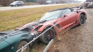 Wrecked Droptop Corvette