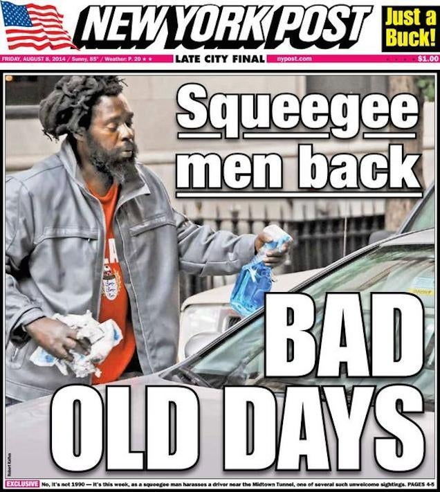 The New York Post Is Still Talking About Squeegee Men