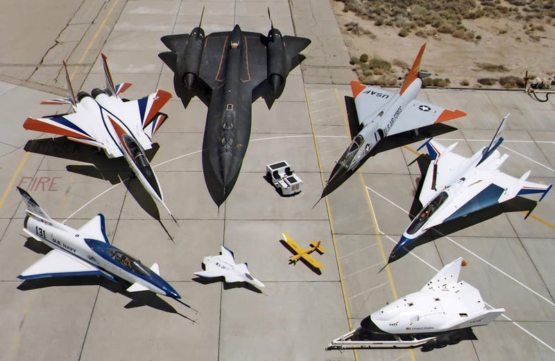 They may look like toys but this is NASA's amazing airplane collection