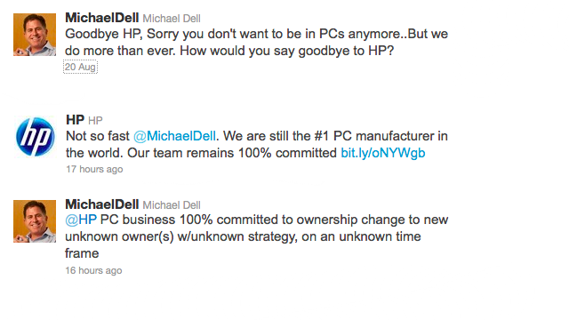 Michael Dell Snipes at HP Social Media Intern In Epic Twitter Battle