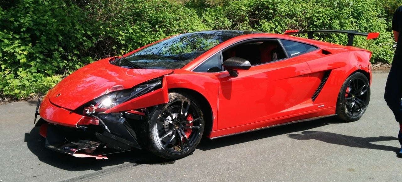Lamborghini Crashes On Race Track For Once, Not On Roads