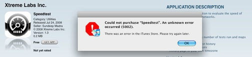 iTunes App Store Appears to Be Borked - Anyone Else Having Problems?