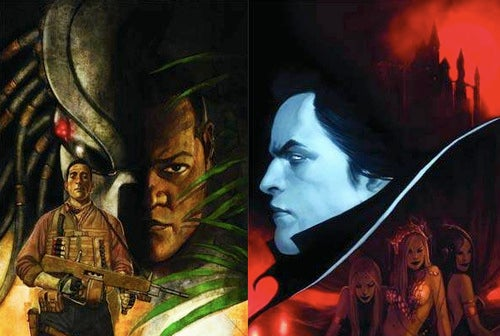 Creature feature of the week? Predator vs. Dracula vs. Mark Millar