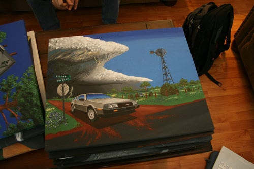 A Gallery Of DeLorean Paintings