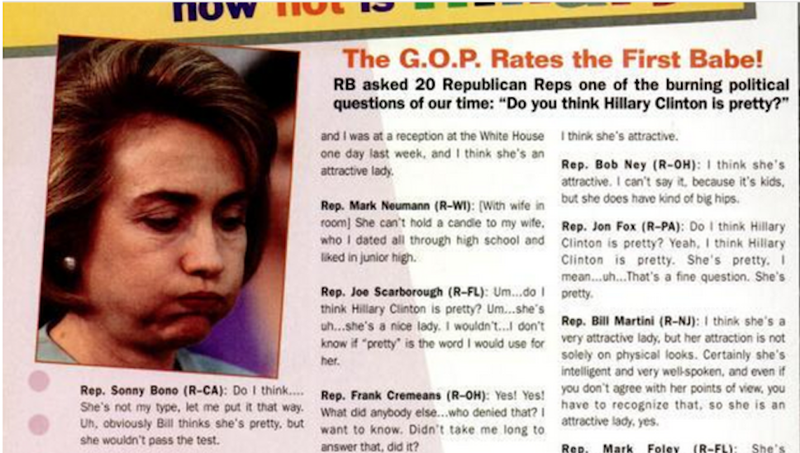 That Time a Bunch of Republicans Rated Hillary Clinton's Hotness