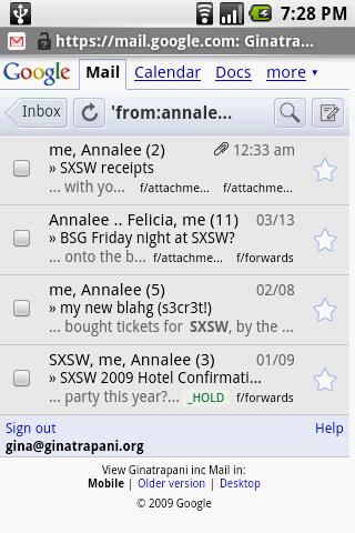 Mobile Gmail Showdown: The Webapp Versus a Mail Client