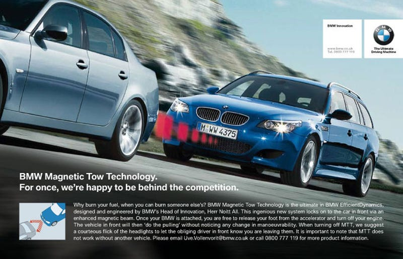 Magnetic Tow Technology Puts BMW Behind The Competition