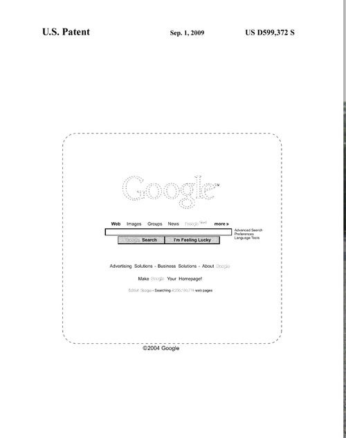 Google Patents World's Simplest Home Page