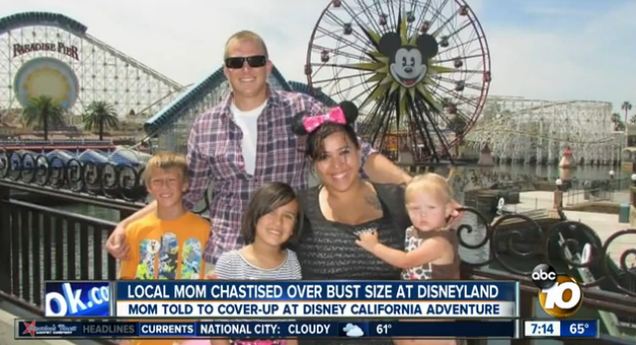 Disney Park Employee Tells Mom to Cover Up Her Big Breasts