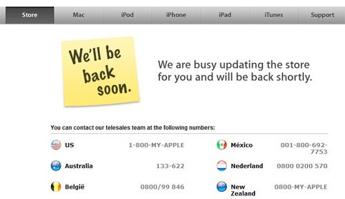 Apple Store Down, New MacBook Pros Today?