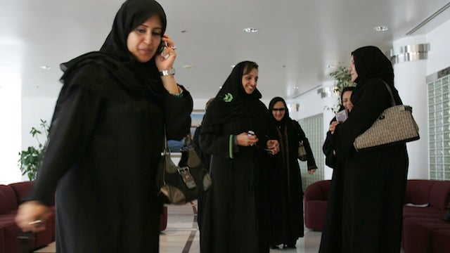 Women Can't Use Photos In Saudi Campaign Ads