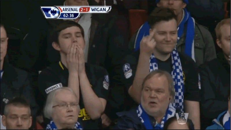 Wigan Fan Gives Zero Fucks