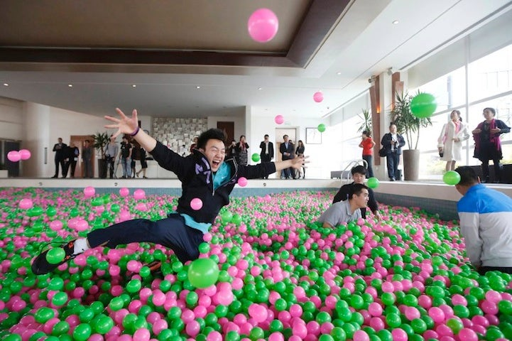 The world's largest ball pit has a whopping one million balls in it