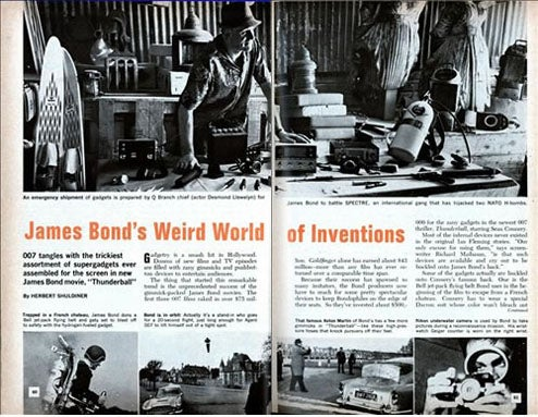 James Bond's Weird World of Inventions Chronicles 007 in 1966