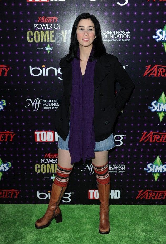 Sarah Silverman Practices Unsafe Socks