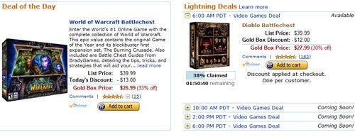 Amazon Gold Boxes Blizzard's Best
